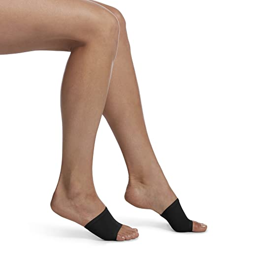 c5d18d6b9d1b7 HUE Women's Open Toe Slide Sandal Liner Sock, 2 Pair Pack, black One Size  at Amazon Women's Clothing store: