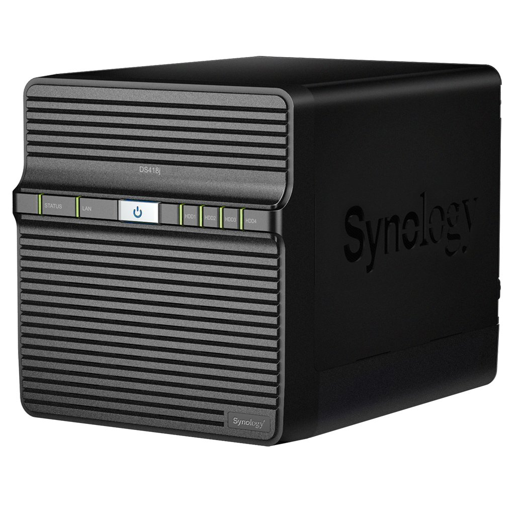Synology DS418J 12TB 4 Bay NAS Solución | Instalado con 4 x 3TB Seagate IrownWolf Drives