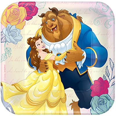 "Disney Beauty and The Beast 7"" Dessert Plates (8): Toys & Games"