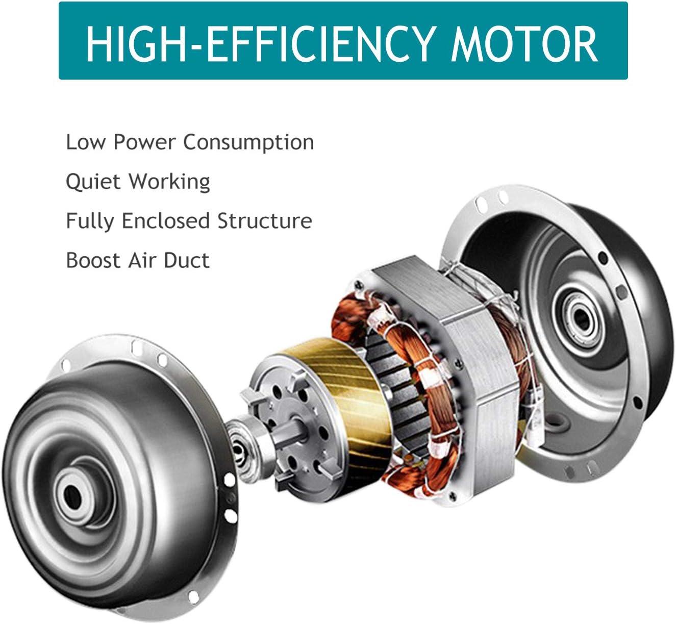 HG Power Ventilador extractor de ventilaci/ón de 5 pulgadas flujo de aire m/áximo 280 m3//h para ba/ño conducto silencioso invernaderos hidrop/ónicos