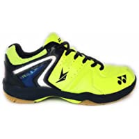 Yonex Unisex Lime Green/Blue Badminton Shoes -8 UK