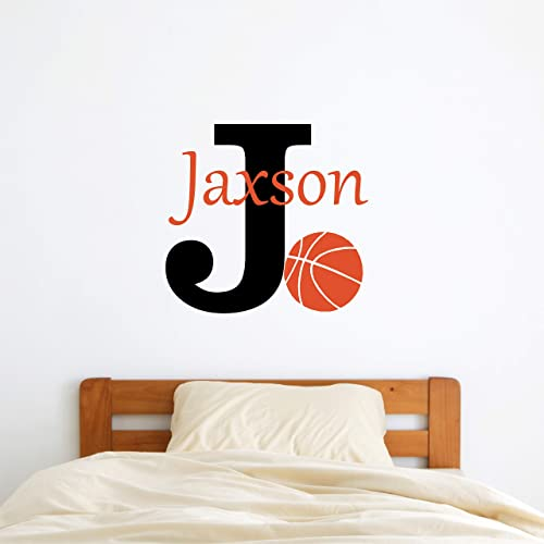 Sports Decor Kids Room Teen Name Vinyl Wall Decal Sports Personalized Sports Name Decal