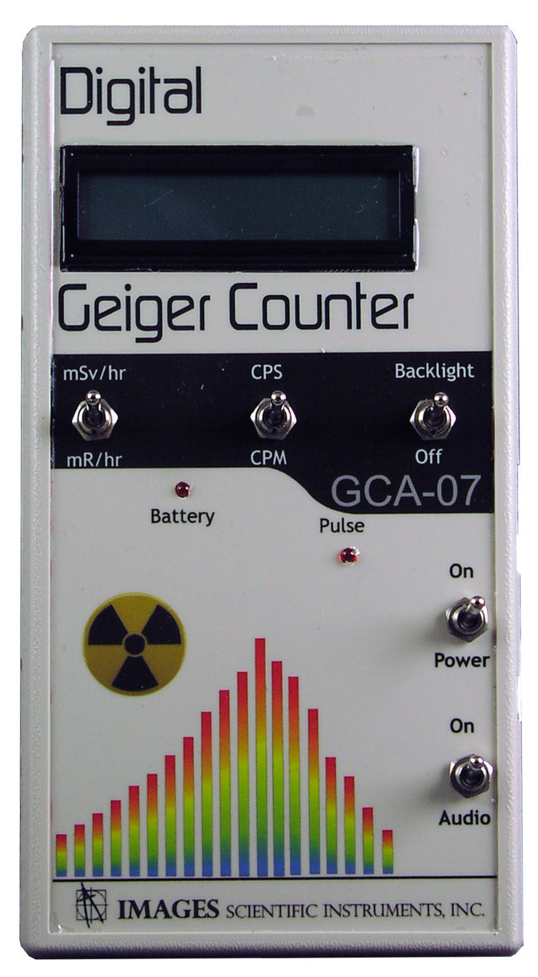 GCA-07 Professional Geiger Counter Nuclear Radiation Detection Monitor with Digital Meter and Internal GM Tube - NRC Certification Ready- 0.001 mR/hr Resolution -- 1000 mR/hr Range by Images SI Inc. (Image #1)