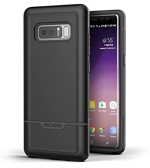 huge discount f2ff5 31251 Encased Galaxy Note 8 Heavy Duty Case (Rebel Series) Military Grade Rugged  Cover w/TPU for Samsung Note 8 Phone (Black)