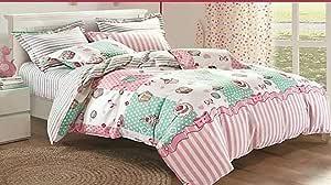 Printed 3D Turkish cotton bed sheet set