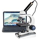 AmScope 40X-1000X LED Student Microscope + 5MP USB Camera
