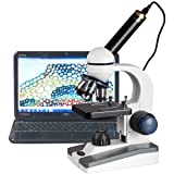 AmScope 40X-1000X LED Student Microscope + 5MP