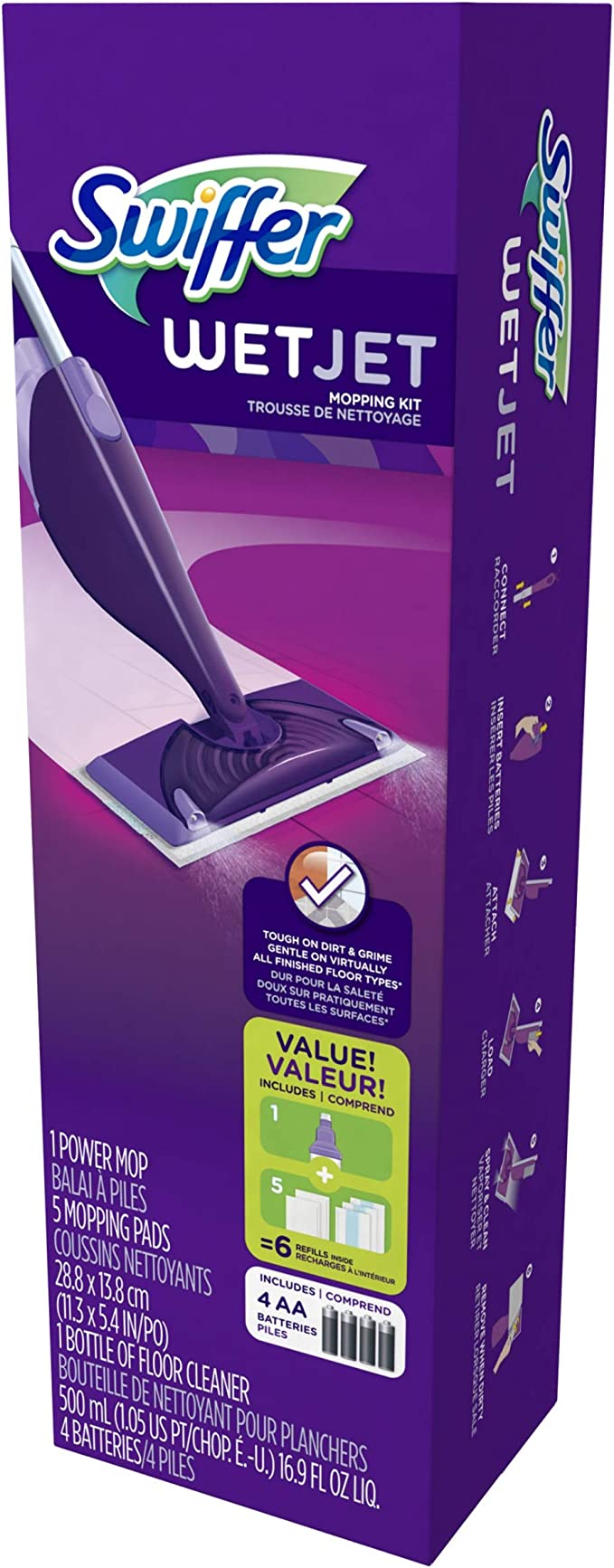 Amazon.com: Swiffer WetJet - Kit de limpieza de suelo de ...