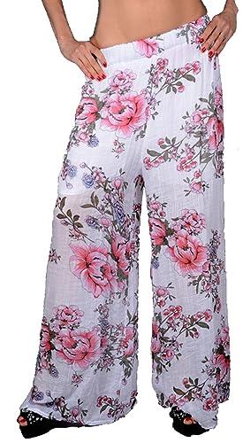 Grisodonna Style – Pantalón – harem – para mujer blanco Weiß 44