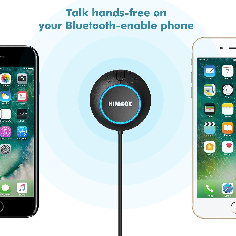 iClever HB01 Bluetooth 4.0 Freisprecheinrichtung f/ür Autos mit 3,5 mm Aux Eingang Klinke Praktische Siri//Voice-Aktivierung, Dual USB Auto Ladeger/ät