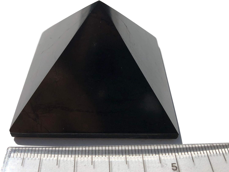 Pirámide de Schungit, 5 x 5 cm, Piedra curativa, pirámide, Piedras Preciosas, pirámide de la Jungla