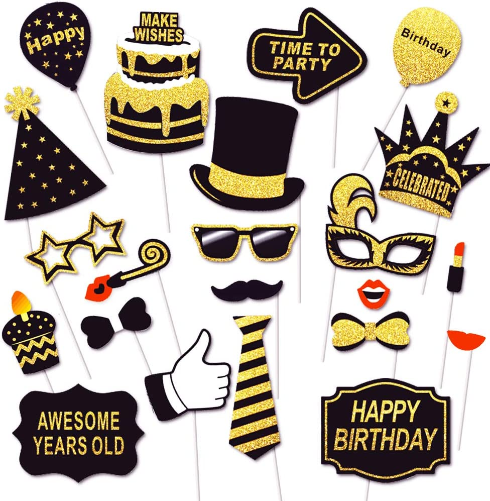 20 Pack 40th Birthday Photo Props Birthday Photo Booth Props Birthday Party Photo Props Selfie Props Birthday Props 40th Birthday Party
