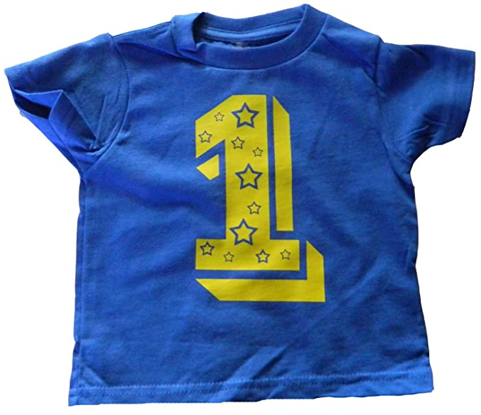 Custom Kingdom Baby Boys One Superstar First Birthday T Shirt 12 Months