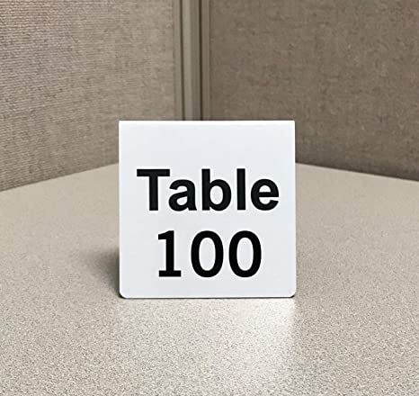 amazon com numbered metal table tent signs pack of 25 numbered