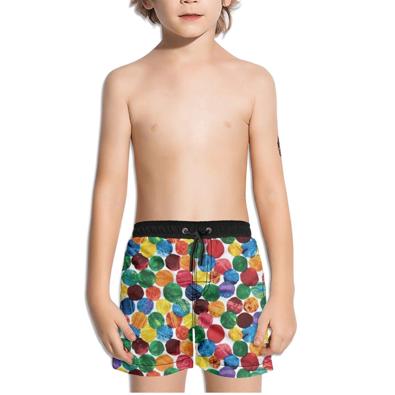 Ouxioaz Boys Swim Trunk Polka Dots Beach Board Shorts
