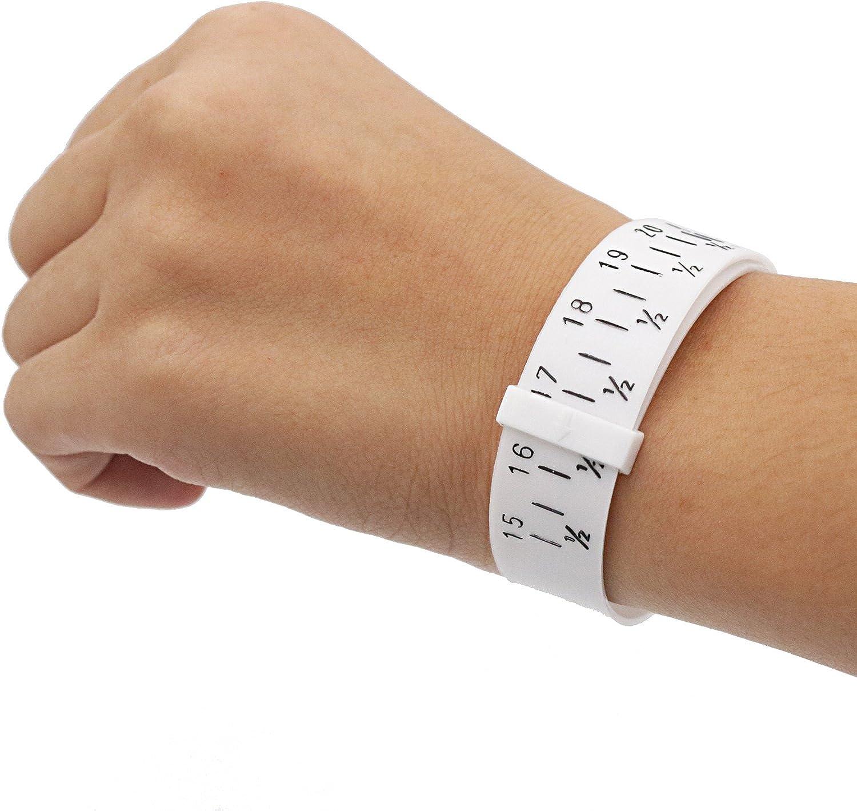Bracelet sizer plastic wristband measuring tool bangle jewelry making gauge *jg