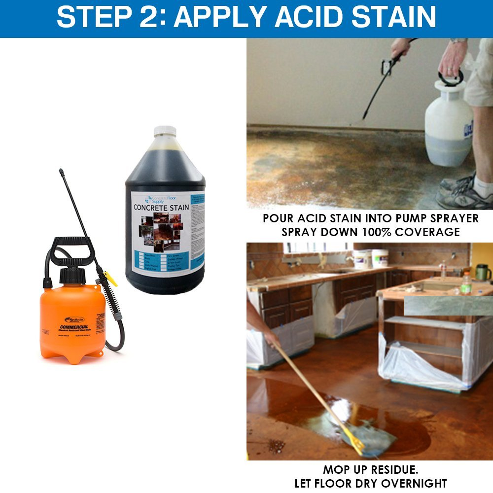 Concrete Floor Supply Concrete Acid Stain - 1 Gallon Cola