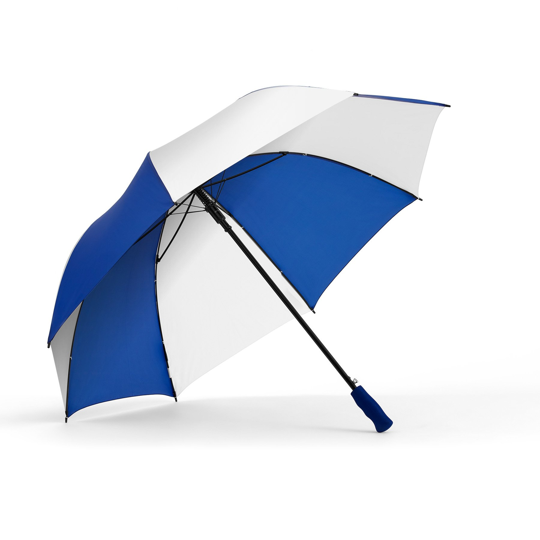 ShedRain® Auto Open Golf Umbrella: Royal/White