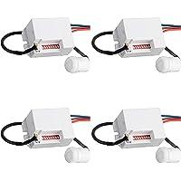 SEBSON® 4x Mini Bewegingsmelder Inbouw Binnen, LED geschikt, Detectiebereik 6m/ 360°, Plafondmontage, regelbare…