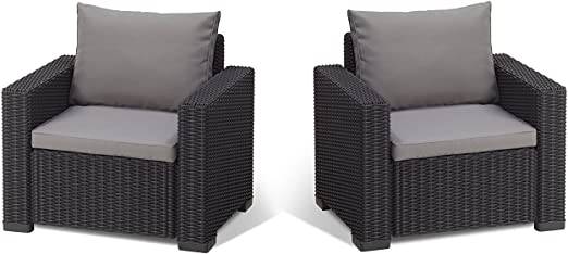 Koll Living 2 Fauteuil San Diego en Anthracite, Compatible ...
