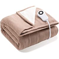 Bedsure Heated Blanket Throw Electric - with 5 Heat Setting, Fast Heating Blanket, 4 H Timer Auto - Off, Super Fuzzy…