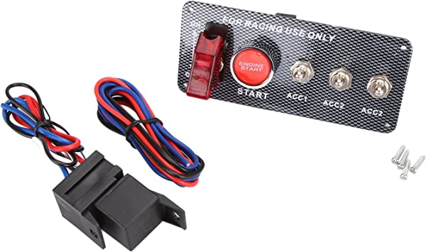 Car Engine Start Kit 12V Push Button Switch Toggle Ignition Panel ON OFF Racing