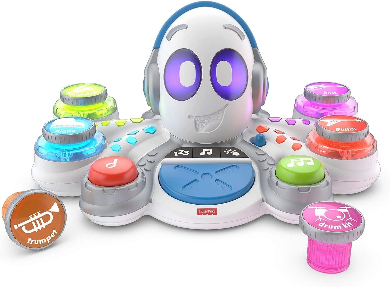 Fisher-Price FKC37 Think and Learn Rocktopus - Juguete de Aprendizaje de Actividad, Robot Educativo para niños de 3 años de Edad, con música y Luces: Amazon.es: Juguetes y juegos