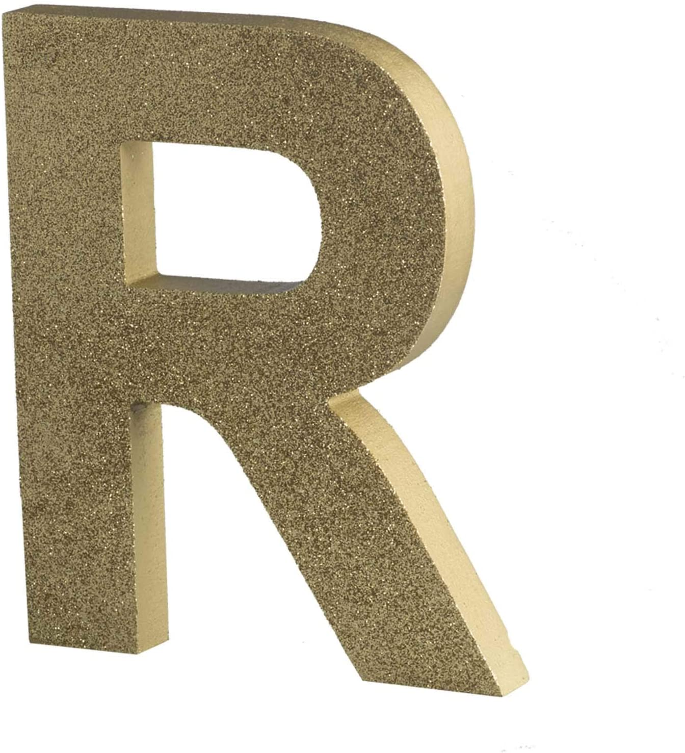 Glitter Gold Wood Letter R Wall Letters Number Marquee Alphabet DIY Block Words Sign Hanging Decor Letter for Home Bedroom Office Wedding Party Decoration