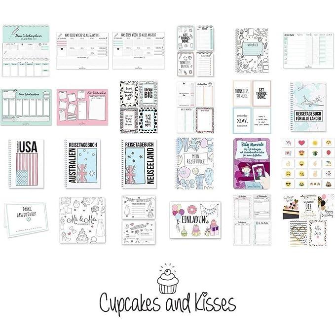 Cupcakes & Kisses® comer planificador & lista de la compra I ...