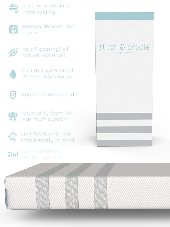 Amazon.com: Punto de naturales y cuna colchón de espuma para ...