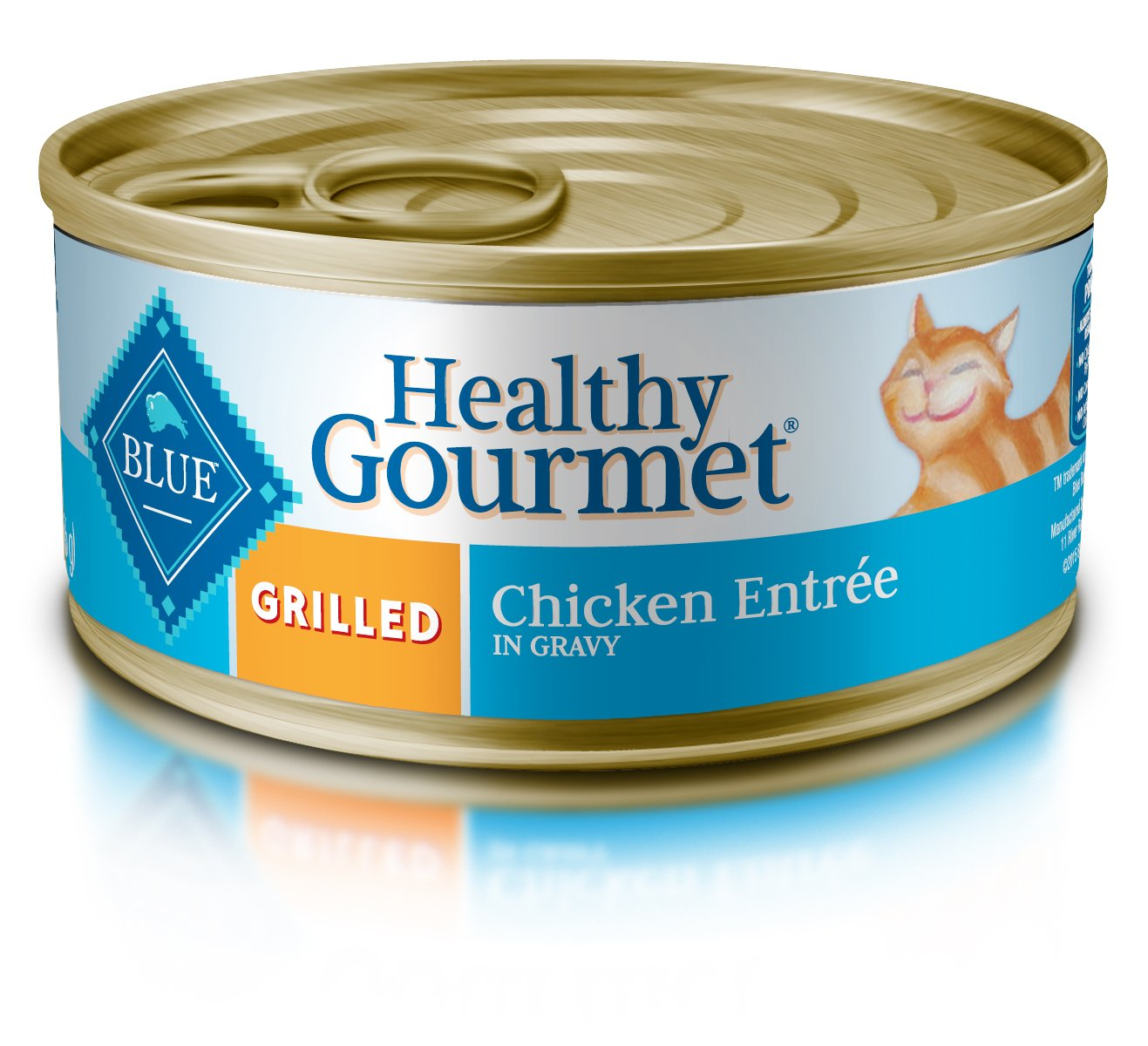 Blue Buffalo Healthy Gourmet Natural Adult Wet Cat Food, Grilled Chicken 5.5-oz cans (Pack of 24) by Blue Buffalo