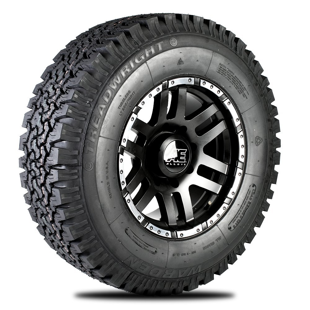 TreadWright WARDEN A/T Tire - Remold USA - LT285/70R17E Premiere Tread Wear (50, 000 miles) W2817E-B2B