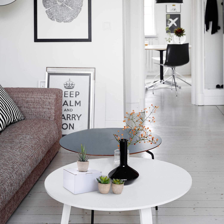 Zalava 3pz Piante artificiali Piante finte da interno con vaso Decorazioni per la casa Ufficio Scrivania Tavolo Casa Balcone Matrimonio