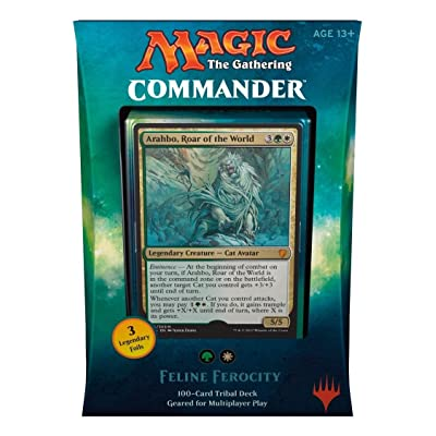 Magic The Gathering MTG Commander 2019 Deck - Feline Ferocity