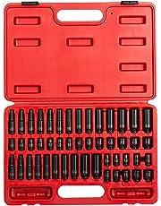Sunex 1848 1/4-Inch Drive SAE and Metric Master Impact Socket Set, 48-Piece