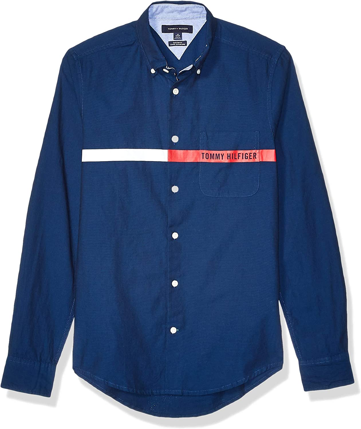 Tommy Hilfiger Mens Long Sleeve Button Down Shirt