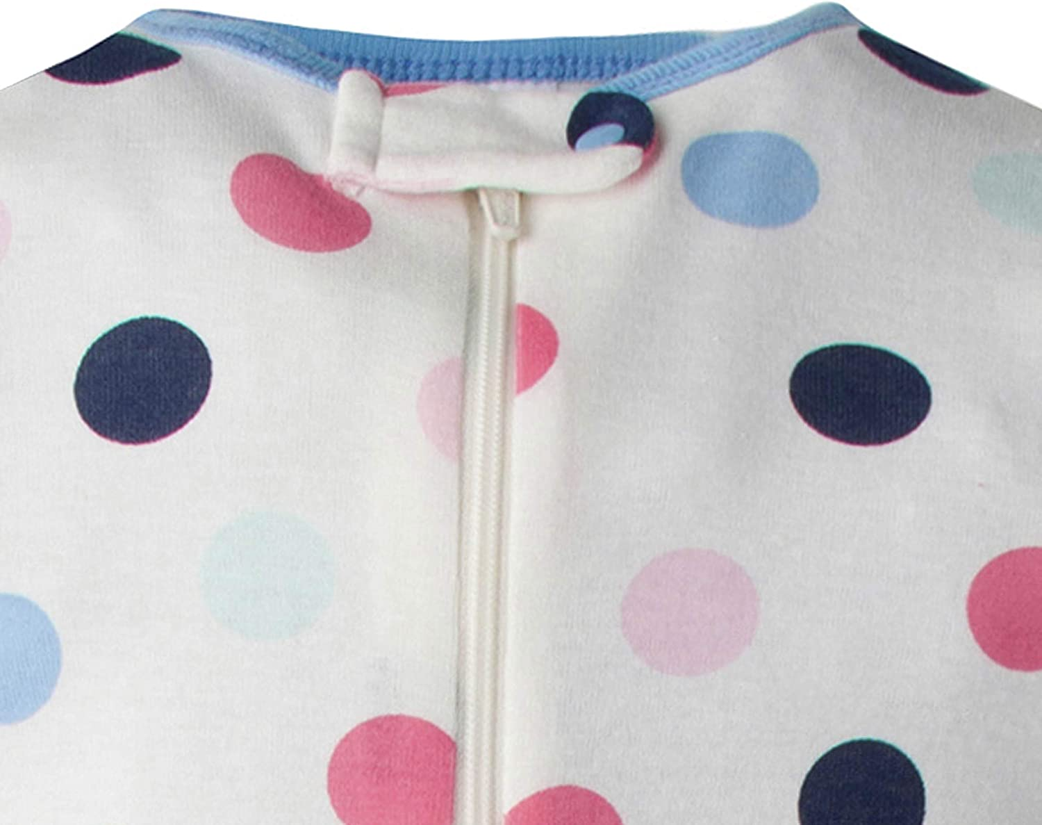 Happy Dots//fair Tale Gerber Baby Girls 4-Pack Footed Unionsuit
