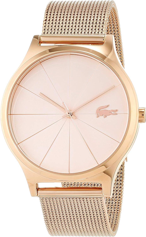 Lacoste Reloj Analógico para Mujer de Cuarzo con Correa en Oro Rosa 2001043
