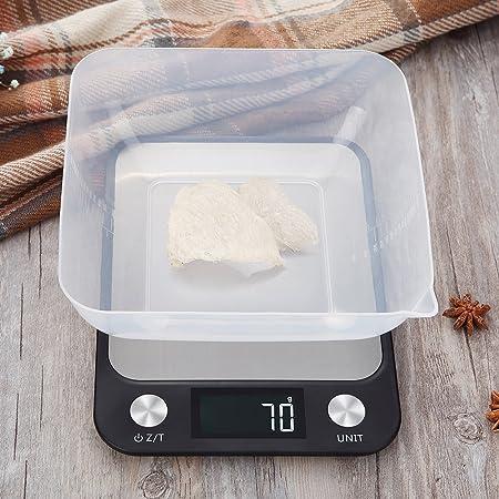 LOLIVEVE Báscula De Cocina Digital Báscula De Cocina Eléctrica De Acero Inoxidable Báscula De Cocina De Alta Precisión Bicycling Display 5Kg 10Kg: ...
