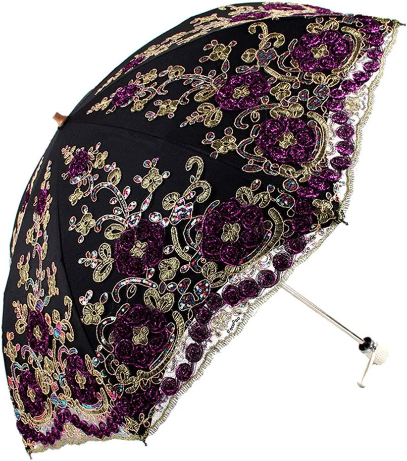Gothic Umbrella Lace Parasol Decorative Umbrellas Wedding Decoration Umbrella Yellow