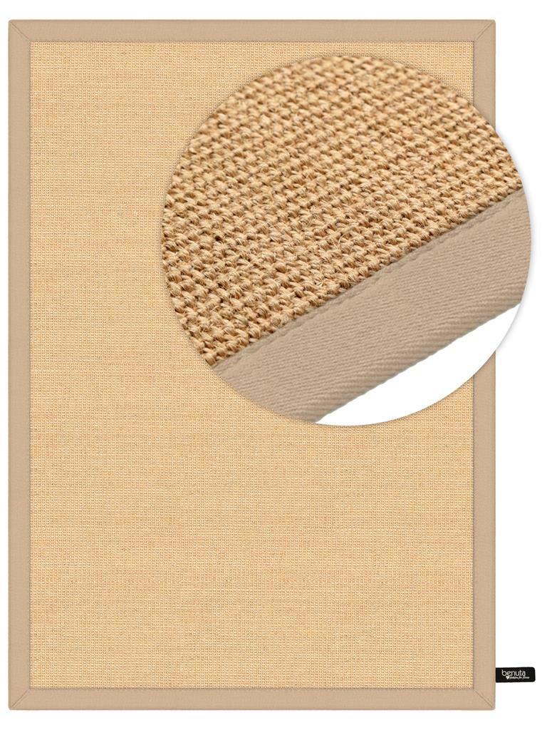 Benuta Sisal Teppich mit Bordüre Beige 120x180 cm   Naturfaserteppich für Flur und Wohnzimmer