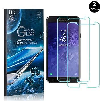 Amazon com: Galaxy J7 Duo Tempered Glass Screen Protector