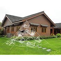 ZOYLINK Halloween spinnenweb spinnenweb decoratie set Halloween party tuindecoratie (5*4,8 m))
