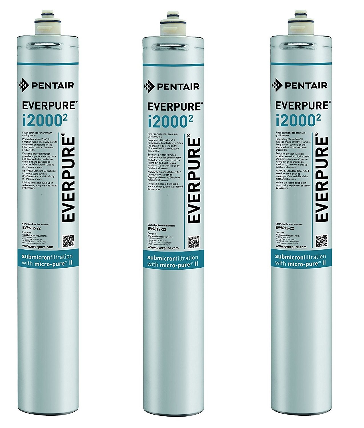 Everpure EV9612-22 i2000^2 Filter Cartridge (Pack of 3)