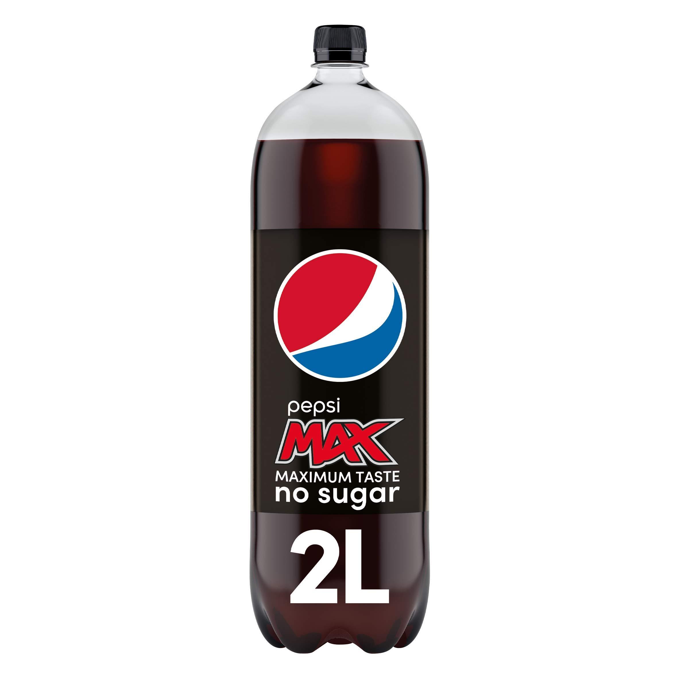 Pepsi Max No Sugar Bottle, 2L