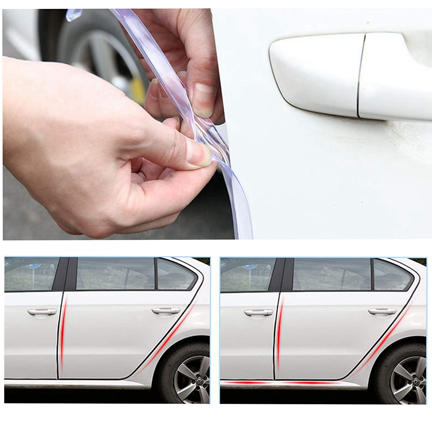 16ft White 5M Car Edge Guard Trim Rubber Seal Protector Guard Strip for Car Door Metal Edge Seal Protection