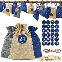 O-Kinee Calendario Adviento Navidad, 24 Bolsas Calendario