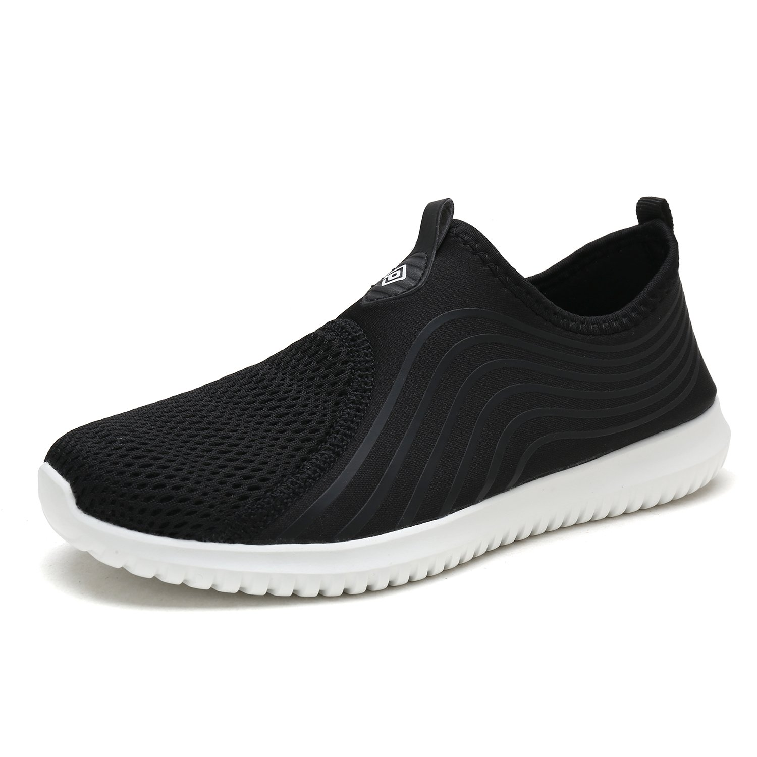 DREAM PAIRS Quick-Dry Water Shoes Sports Walking Casual Sneakers for Women B07886LB5M 7.5 M US|Black/White