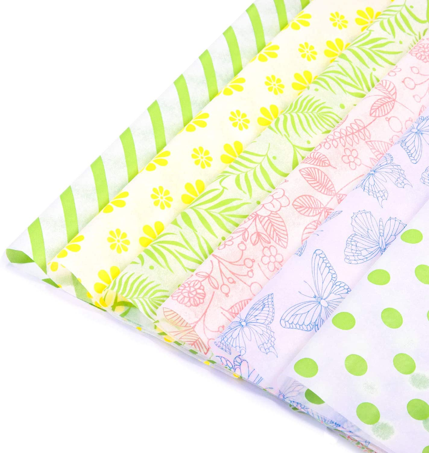 6 Designs Pastel Baby Gift Wrapping Tissue Paper Set 120 Sheets
