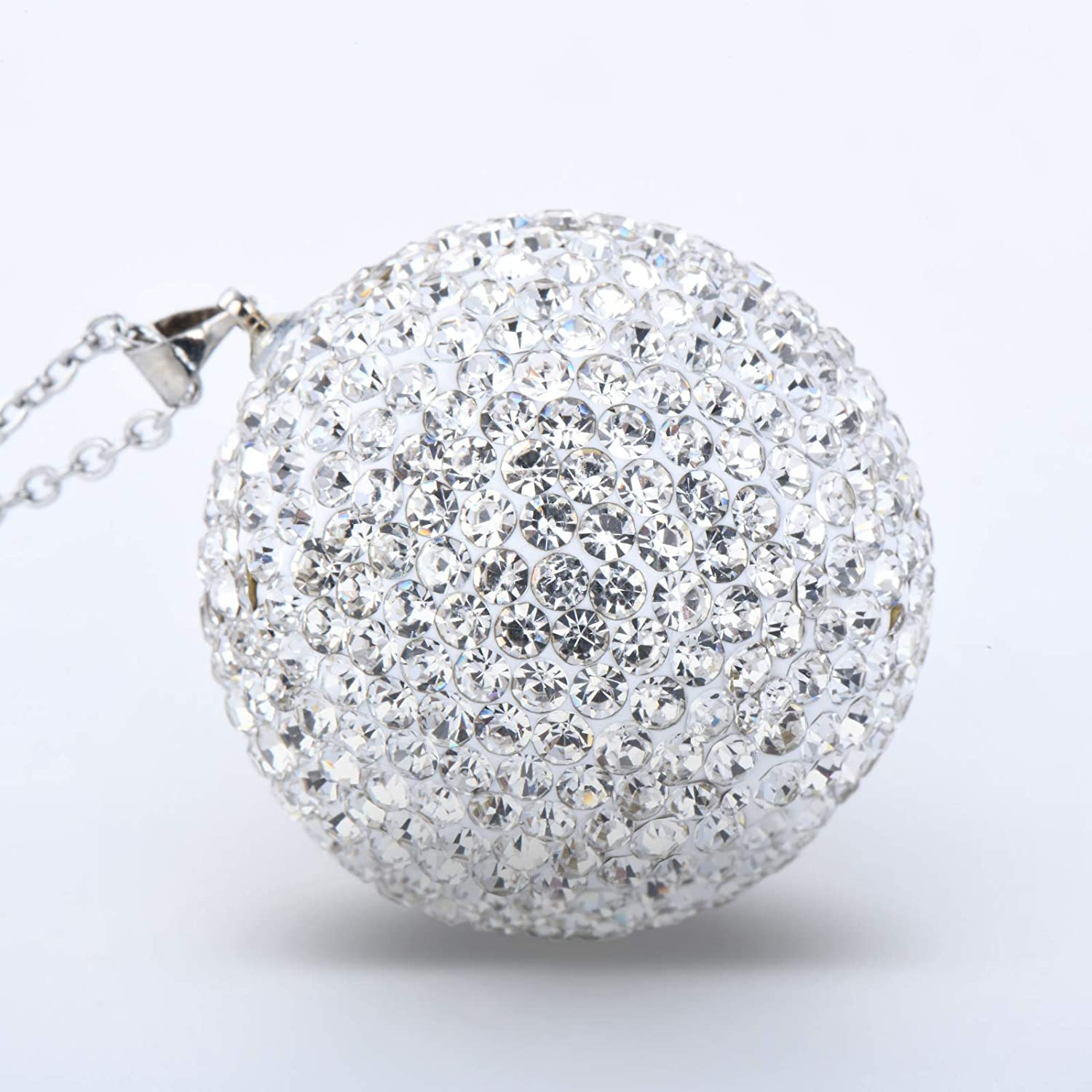 AntBooBoo Bling Crystal Ball for Car Rear View Mirror, Rhinestone Car Home Decor Hanging Ornament, Bling Car Accessories, Crystal Sun Catcher Ornament Car Glam Decoration Charm
